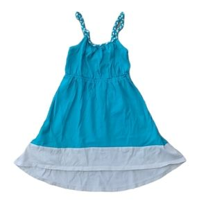 💗1989 Place Dress, Teal, Braided Straps, 3T